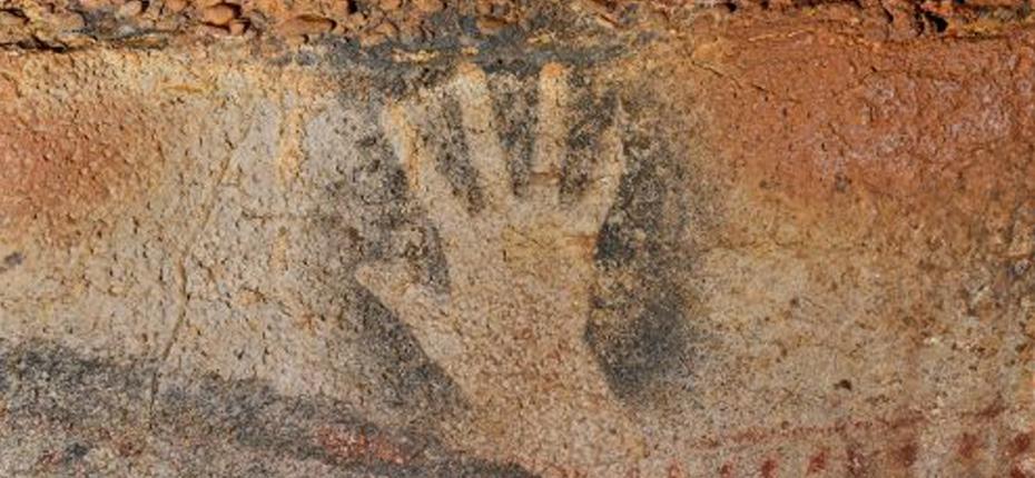 Main négative - Art pariétal - Grotte du Peche Merle