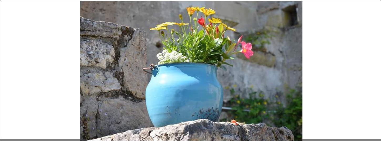 Pot de fleurs - Saint Cirq Lapopie