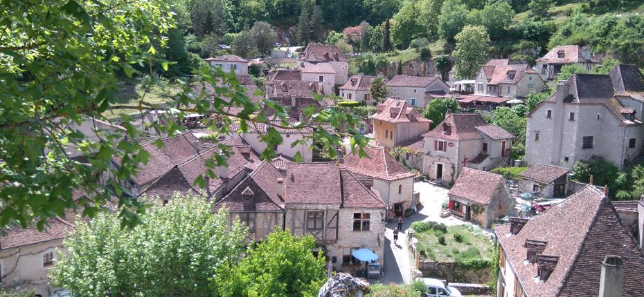 Les toits Saint Cirq Lapopie